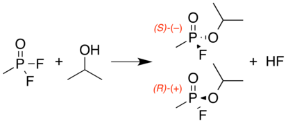 Sarin synth with racemic stereochemistry.png