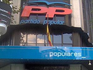 Sede del Partido Popular, sita en el número 13...