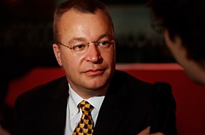 English: Stephen Elop meets the bloggers in 20...