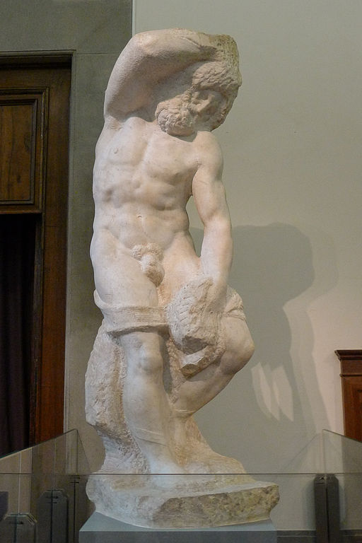 'Bearded Slave' by Michelangelo