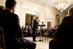 President Barack Obama addresses the Health Ca...