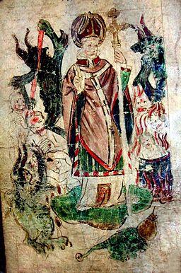 British Library Royal 17 B XLIII St John of Bridlington in St Patricks Purgatory
