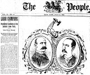 English: Front page of The People, 19 uly 1896