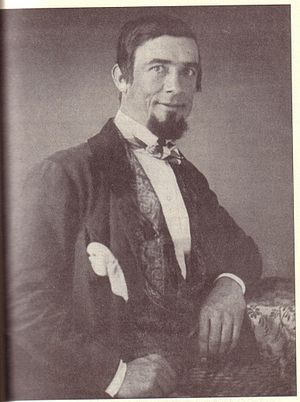 Dan Rice circa 1840s. A daguerreotype portrait...