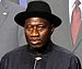 The president of Nigeria, Goodluck Jonathan, a...