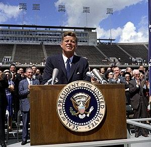 President John F. Kennedy speaks on the nation...