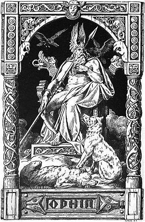 """""""Odhin"""" (1901) by Johannes Gehrts. T..."""