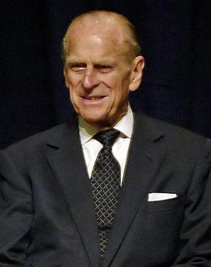 Prince Philip, The Duke of Edinburgh, during a...