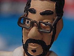 Boneco representando a figura do cantor brasil...