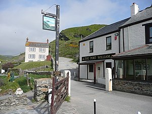 English: The Port William, Trebarwith At one t...
