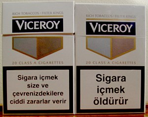 English: Cigarette pack in Turkey