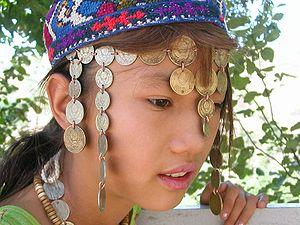 English: Uzbeki girl, Uzbekistan