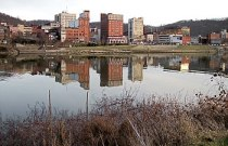 Downtown Wheeling, West Virginia and the Ohio ...