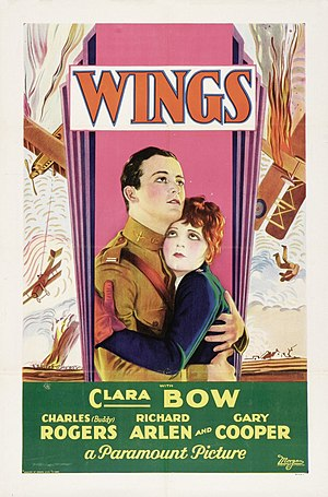 Wings (1927) film poster.