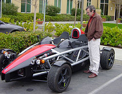 Ian Wright next to the Wrightspeed X1 - from wikipedia entry