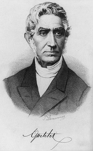 Portrait of Belgian astronomer, mathematician,...
