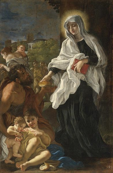 File:Baciccio-Saint Francesca Romana Giving Alms.jpg