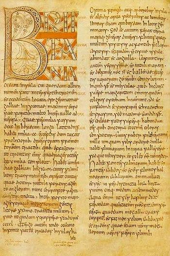 A manuscript of Bede's, Historia Ecclesiastica...