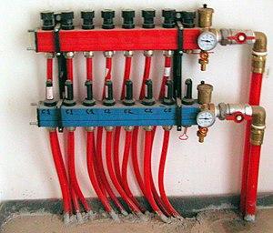 Radiant floor circuit collectors Sant Martí de...