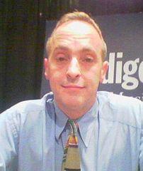 David Sedaris at a talk in Ontario.