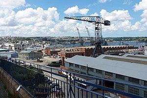 Falmouth Docks.