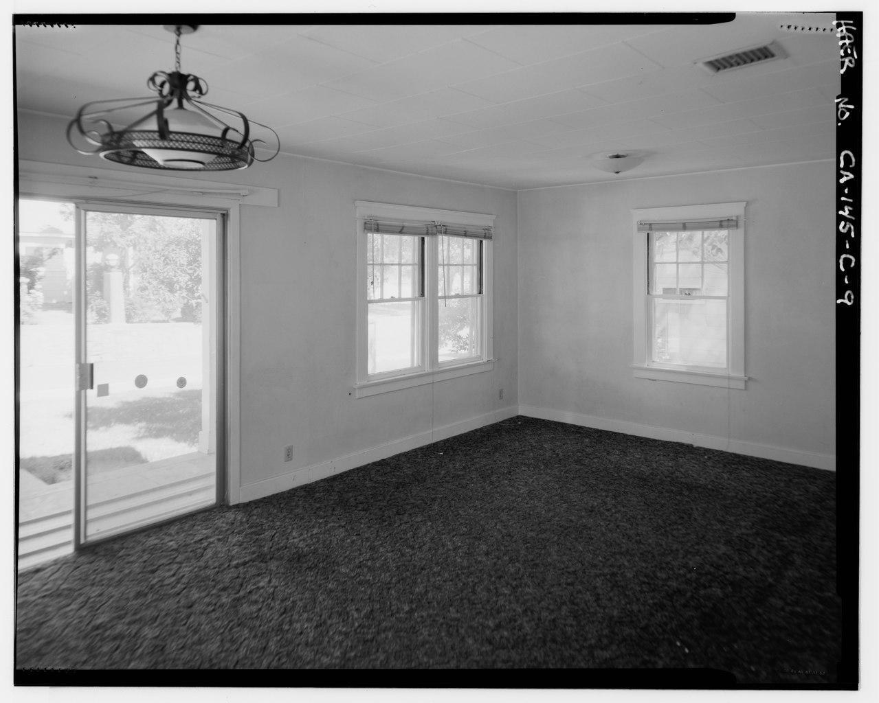 File Interior Of Living Room Showing Aluminum Sliding