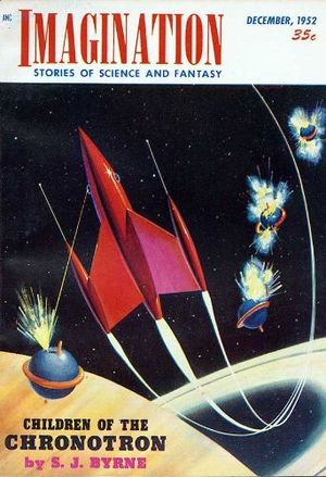 Magazine cover of Imagination December 1952 issue.