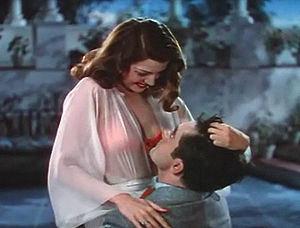 Cropped screenshot of Rita Hayworth and Tyrone...