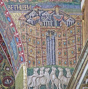 English: Triomphal Arch Mosaics in the Basilic...