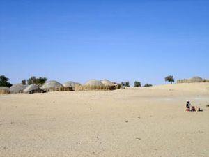 A Saharan village in Mali