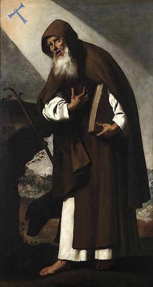Español: San Antonio Abad, por Francisco de Zu...