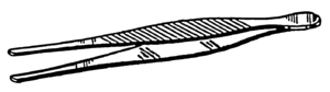 English: Line art drawing of tweezers.