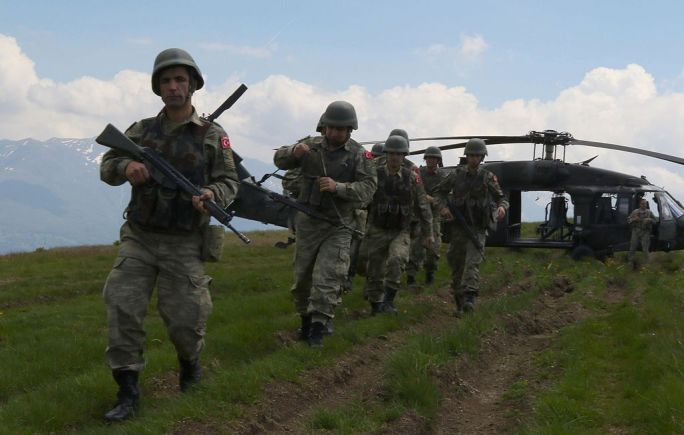 2645205 Turkish soldiers, serving as a reactionary force for the KFOR Multinational Battle Group-East in Kosovo