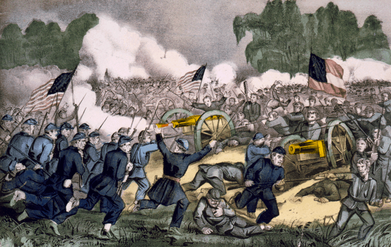 The battle of Gettysburg, Pa. July 3d., 1863, by Currier and Ives