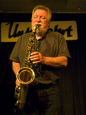 Evan Parker, saxophonist, picture taken in Jaz...