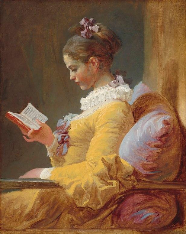 """A Young Girl Reading"" by Jean-Honoré Fragonard"