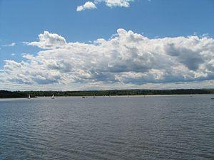Glenmore Reservoir in Calgary