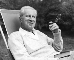 Herbert Marcuse in Newton, Massachusetts in 1955