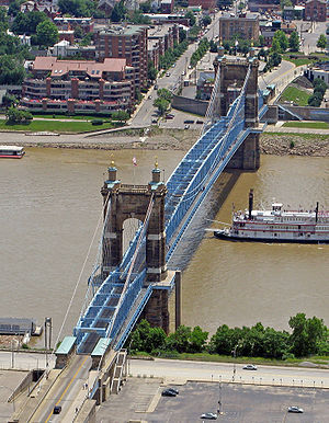 English: Aerial view of the John A. Roebling S...