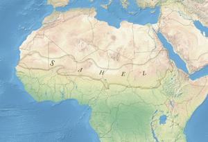 Αποτέλεσμα εικόνας για sahel on a map