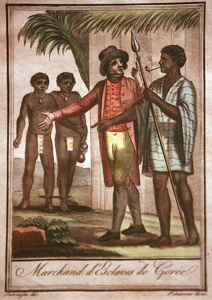 Slave traders in Senegal. For centuries Africans had sold other Africans to the Arabs and Europeans as slaves.