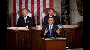 English: President Barack Obama discusses his ...