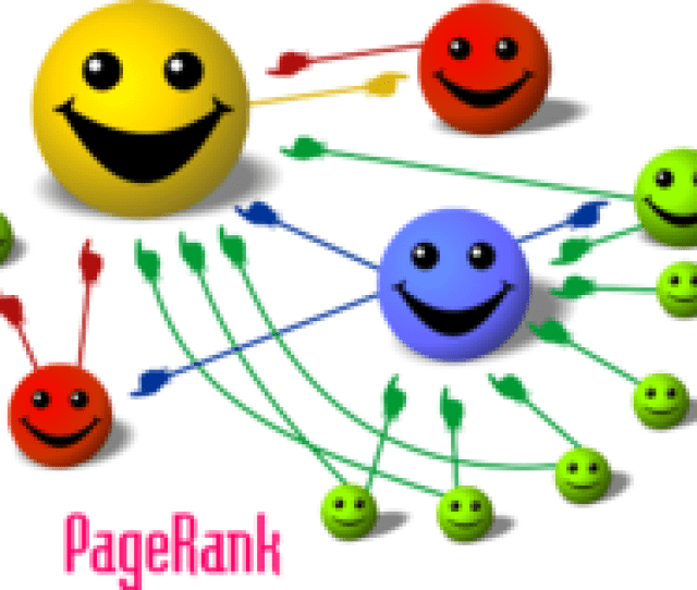 Cartoon Il Rating The Basic Principle Of Pagerank The Size Of Each Face Is Proportional To The Total Size Of The Other Faces Which Are Pointing To It