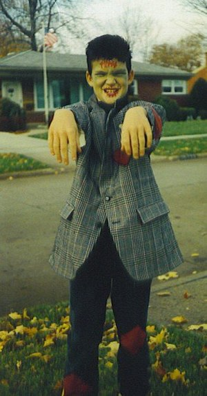 Frankenstein for Halloween back in the day