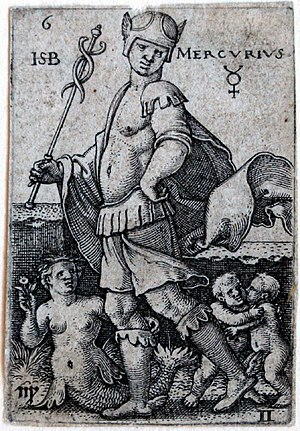 Beham, (Hans) Sebald (1500-1550): Mercury, fro...