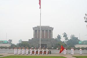 Ho Chi Minh Mausoleum at Ba Dinh Square.