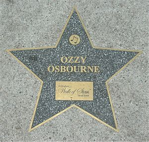 Star for Ozzy Osbourne on the Birmingham Walk ...