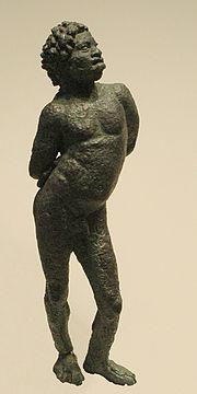 Esclavo negro con las manos atadas, Dinastia Ptolemaica, Museo del Louvre.