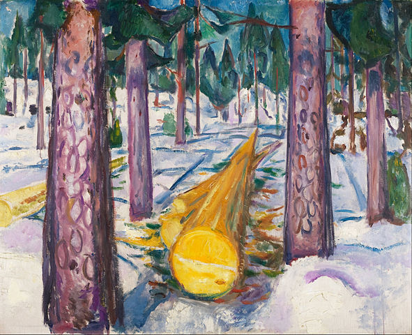 Edvard Munch, The Yellow Log, 1912