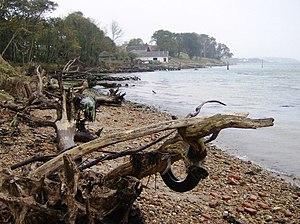 English: Finding the coastal footpath The coas...
